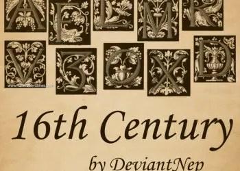 16Th Century Alphabet