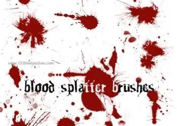 Blood Splatter Free photoshop brushes