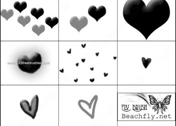 Hearts Valentines Brush