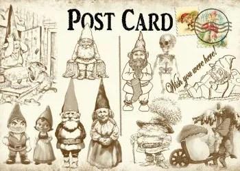 Christmas Santa Claus Post Card
