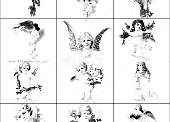Free Photoshop Cupid Angel Brushes