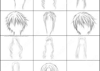 Free Anime Hairs Brushes