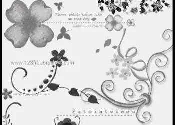 Flower Brushes Adobe Photoshop