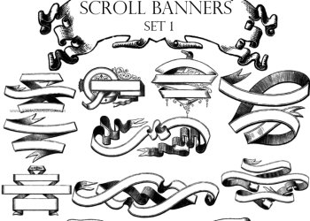 Vintage Scroll Banner Pack