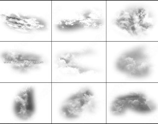 Sky and Clouds Photoshop Free Brushes