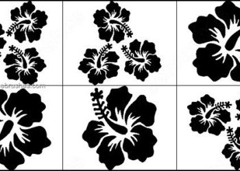 Flower Silhouettes Brushes
