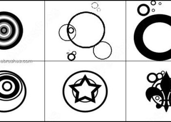 Vector Circle Brushes for Photoshop 7
