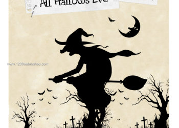 Halloween Witch Silhouettes