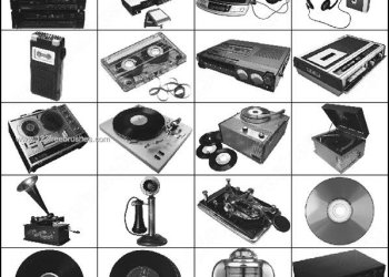 Music Instruments – Gramophone – Record – Walkman Brushes
