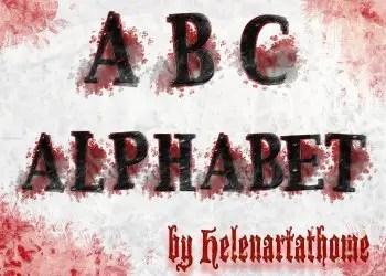 Abc Grungy Alphabet