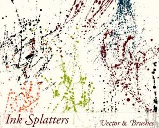 Ink Paint Splatter Drips Vector Illustration