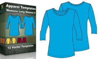 T-Shirt Templates : Women