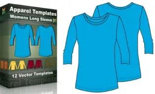 T-Shirt Templates : Women