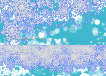 Snowflake Borders and Glitters
