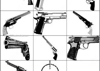 Photoshop Guns & Pistol Brush
