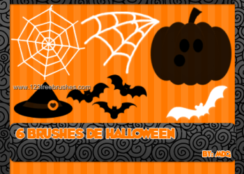 Halloween spider web pumpkin bats