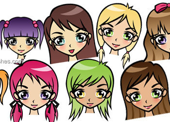 Cute Cartoon Girls