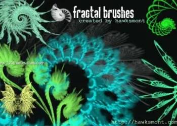 Fractal Photoshop Brushes Free