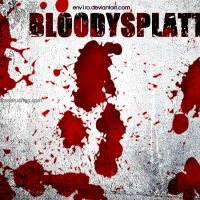 Blood Splatter Paint