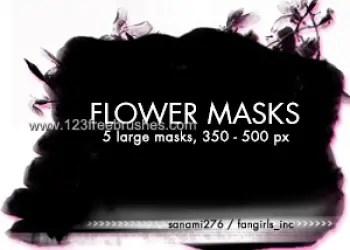 Large Flower Masks