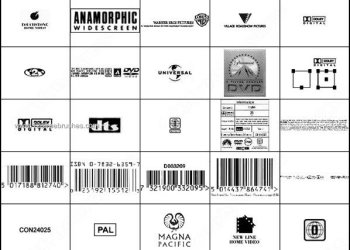 DVD Resource Text – Barcodes Free Photoshop Logo Brushes