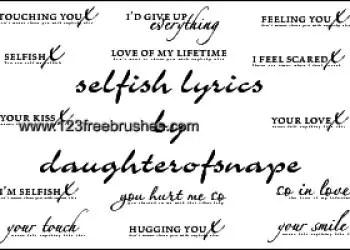 Selfish Lyrics