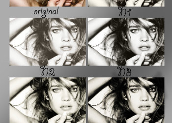 The Black And White Pack effect photoshop action