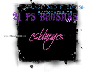 Grunge and Flourish Background