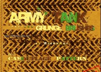 Army Tank Pattern Grunge