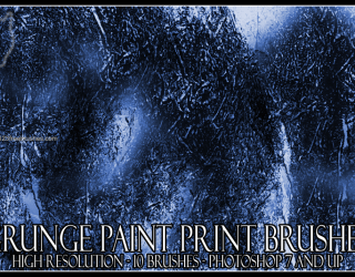 Grunge Paint Print