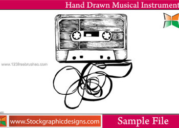 Hand Drawn Musical Instruments Vector and Photoshop Brush