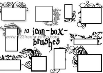 Icon Box Floral Frames