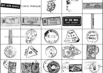 Postal Brushes – Post Stamp Photoshop