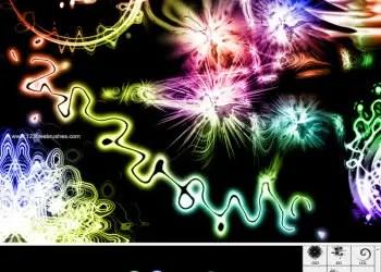 Abstract Shiny Swirl