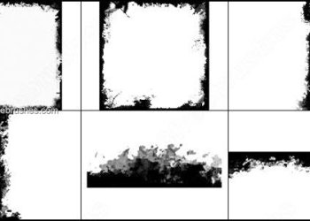 Grunge Photo Frames – Edges – Borders Photoshop Brushes