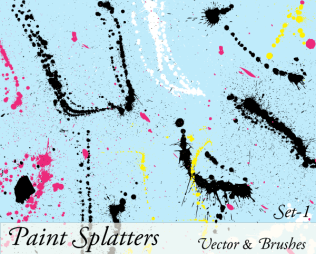 Paint Splatter Vector Illustrator
