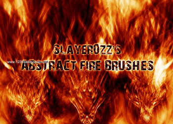 Free Abstract Fire Brushes Photoshop