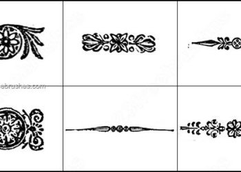 Book Ornaments Brushes
