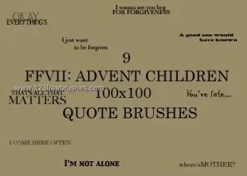 Advent Children Quote