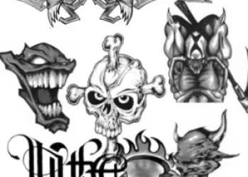 Photoshop Free Weird Tattoo Brushes