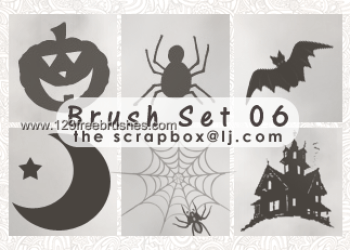Halloween Photoshop Brushes Pack