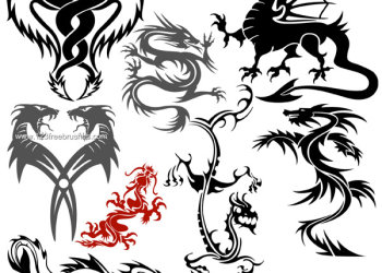 Dragon Free Photoshop Brushes