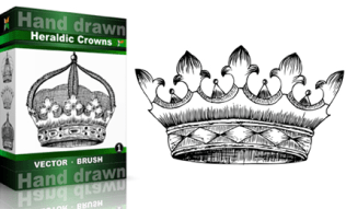 Heraldic Series : Hand Drawn Crowns