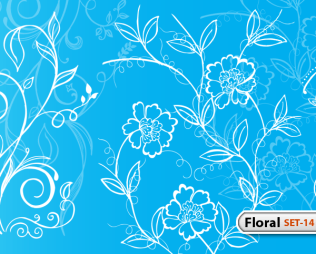 Hand Drawn Floral -Set-14