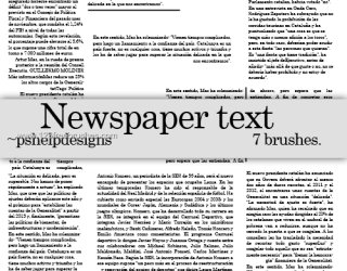 Newspaper Text
