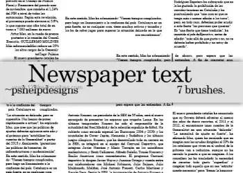 Newspaper Text