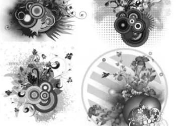 Floral and Circles