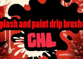 Splash and Paint Drip