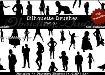 Men – Women and Kids Silhouettes