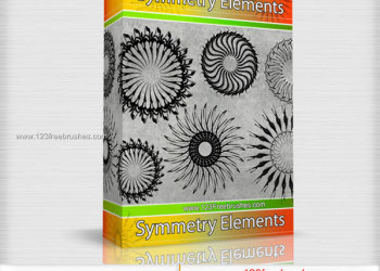 Symmetry Elements Vector and Photoshop Brush Pack Free